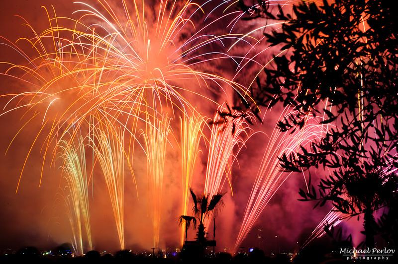 Фестиваль фейерверков в Каннах 2015