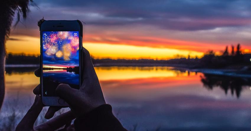 Виртуальный фейерверк с дополненной реальностью в Канаде