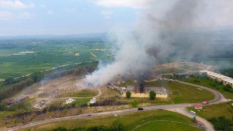 Беспрецедентный взрыв на фабрике фейерверков в Турции