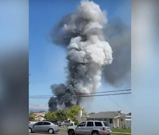 Взрыв тайного склада пиротехники в США