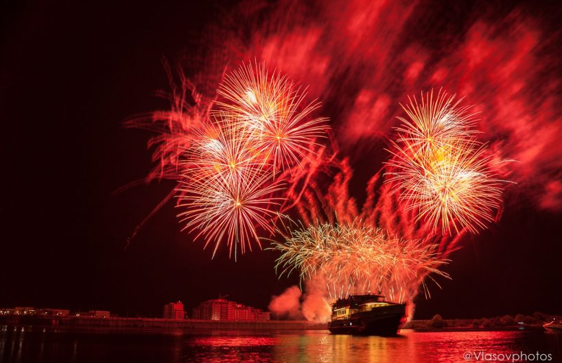 Фестиваль фейерверков «Большая Волга» прошел в Дубне